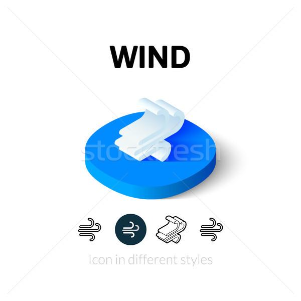 ветер икона различный стиль вектора символ Сток-фото © sidmay