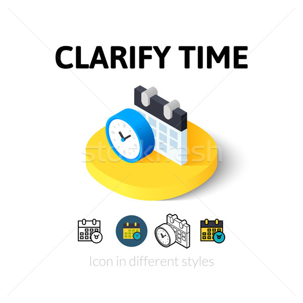 Clarify time icon in different style Stock photo © sidmay