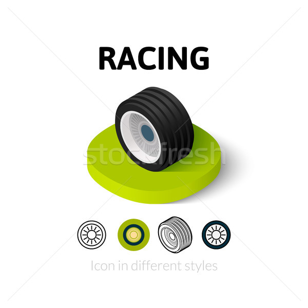 Racing icon in different style Stock photo © sidmay