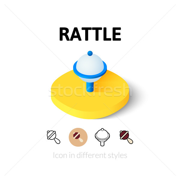 Rattle icon in different style Stock photo © sidmay
