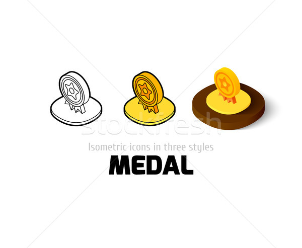 Medal icon in different style Stock photo © sidmay
