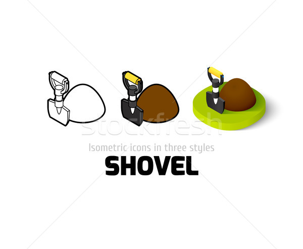 Shovel icon in different style Stock photo © sidmay