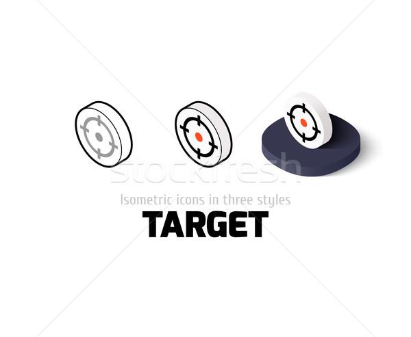 Сток-фото: целевой · икона · различный · стиль · вектора · символ