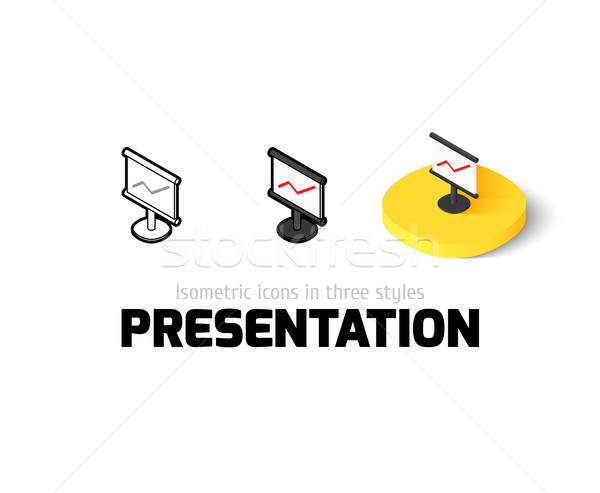 презентация икона различный стиль вектора символ Сток-фото © sidmay