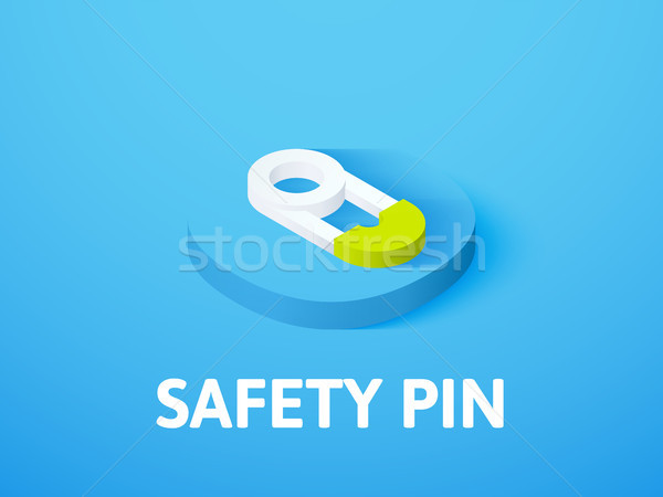 Safety pin isometric icon, isolated on color background Stock photo © sidmay