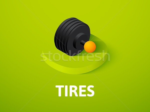 Tires isometric icon, isolated on color background Stock photo © sidmay