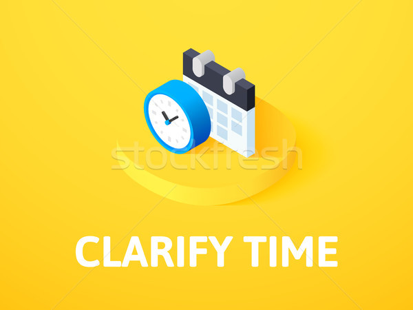 Clarify time isometric icon, isolated on color background Stock photo © sidmay
