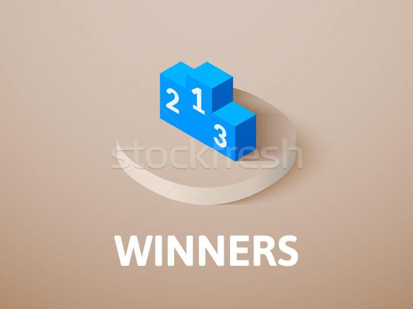 Winnaars isometrische icon geïsoleerd kleur vector Stockfoto © sidmay