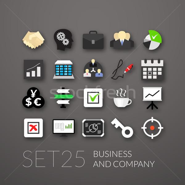 25 negocios empresa ordenador oficina Foto stock © sidmay
