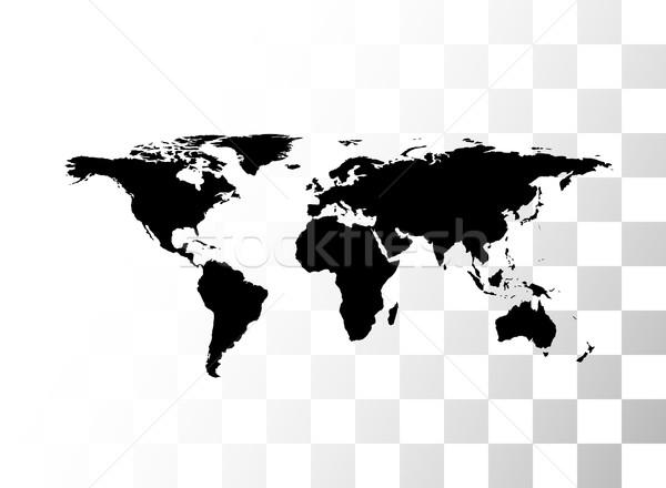 вектора черный Мир карта прозрачный бизнеса мира Сток-фото © sidmay