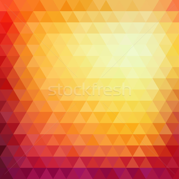 Retro mosaic pattern of geometric triangle shapes Stock photo © sidmay