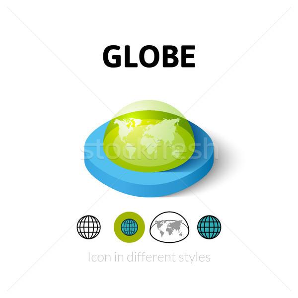 Mundo icono diferente estilo vector símbolo Foto stock © sidmay