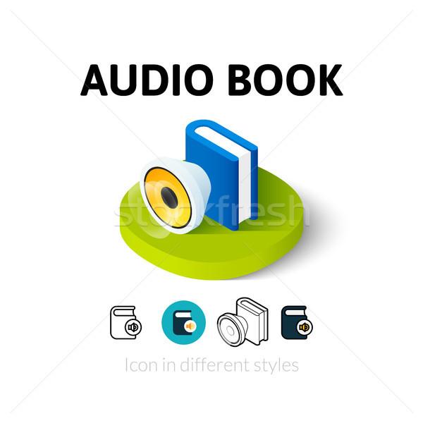 Audio libro icona diverso stile vettore Foto d'archivio © sidmay