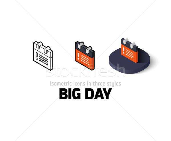 Grande día icono diferente estilo vector Foto stock © sidmay