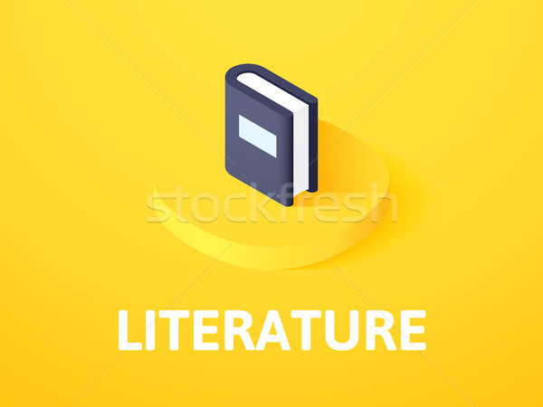 Literature isometric icon, isolated on color background Stock photo © sidmay