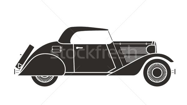 Retro kabriolet samochodu vintage kolekcja klasyczny Zdjęcia stock © sidmay