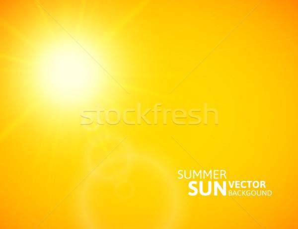 Lata słońce wybuch pomarańczowy niebo Zdjęcia stock © sidmay