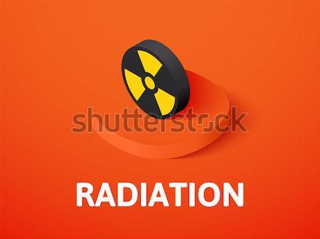 Zdjęcia stock: Promieniowanie · ikona · inny · stylu · kolor · wektora