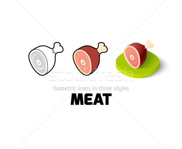 Carne icono diferente estilo vector símbolo Foto stock © sidmay