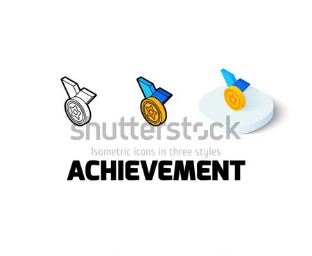 Medalha ícone diferente estilo vetor símbolo Foto stock © sidmay