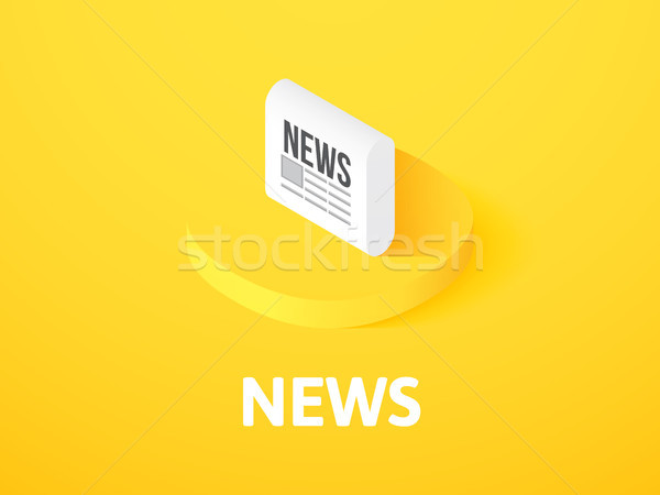 News isometric icon, isolated on color background Stock photo © sidmay