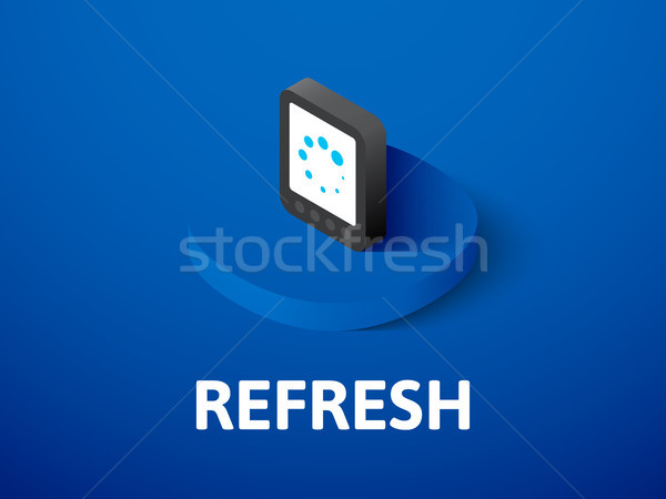 Refresh isometric icon, isolated on color background Stock photo © sidmay