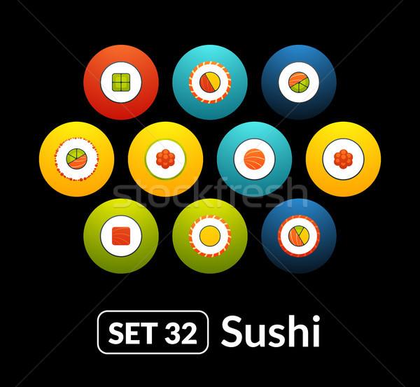 Icone vettore set sushi raccolta telefono Foto d'archivio © sidmay