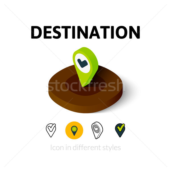 Destination icon in different style Stock photo © sidmay
