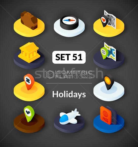 Iconos 3D pictogramas vector Foto stock © sidmay