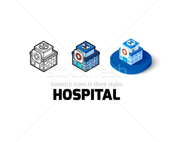Kórház ikon különböző stílus vektor szimbólum Stock fotó © sidmay