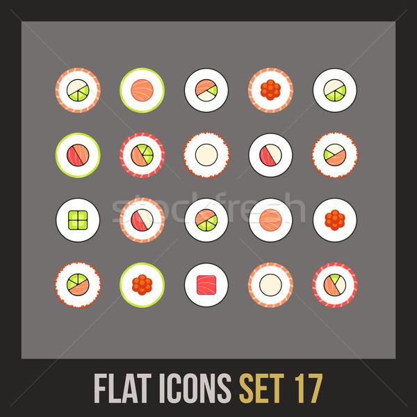 Flat icons set 17 Stock photo © sidmay
