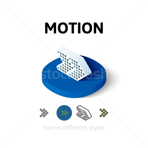 Motion icon in different style Stock photo © sidmay