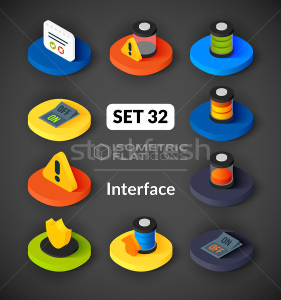 изометрический иконки 3D пиктограммы вектора Сток-фото © sidmay
