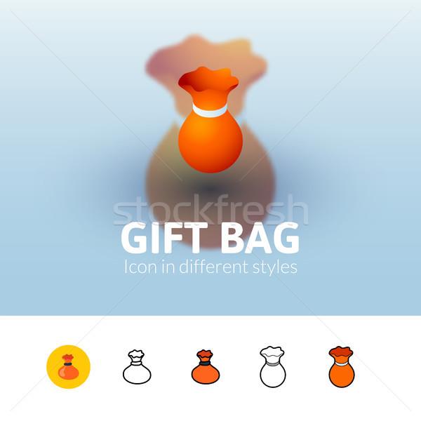 подарок сумку икона различный стиль цвета Сток-фото © sidmay