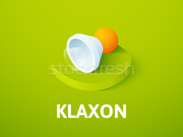 Klaxon isometric icon, isolated on color background Stock photo © sidmay