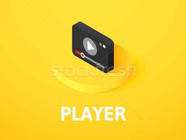 Jugador icono aislado color vector Foto stock © sidmay