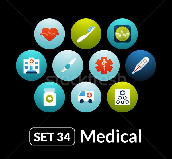 アイコン ベクトル セット 医療 コレクション 電話 ストックフォト © sidmay