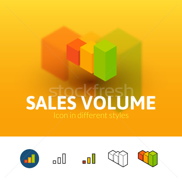 Sales volume icon in different style Stock photo © sidmay