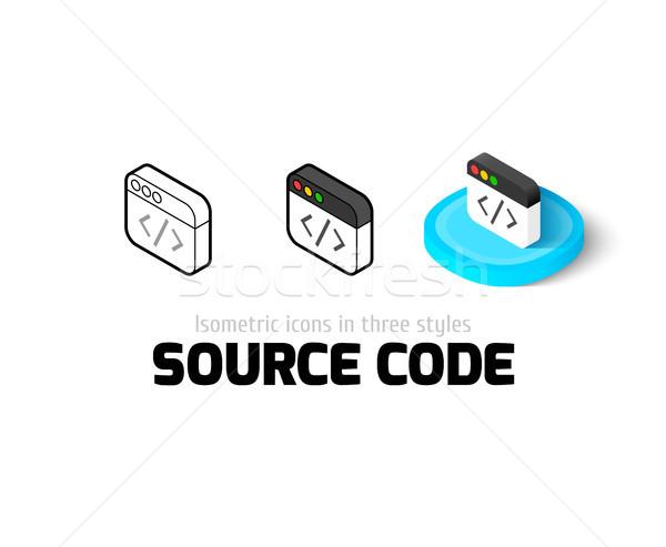 Source code icône différent style vecteur Photo stock © sidmay