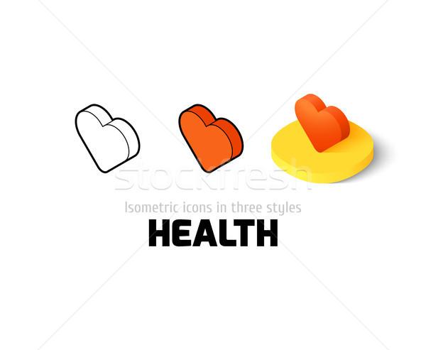 здоровья икона различный стиль вектора символ Сток-фото © sidmay