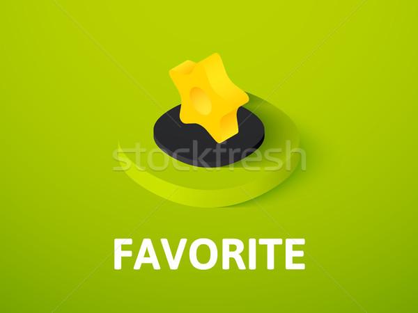 Favoriet isometrische icon geïsoleerd kleur vector Stockfoto © sidmay