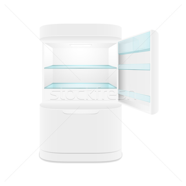 Modern two door white refrigerator Stock photo © sidmay