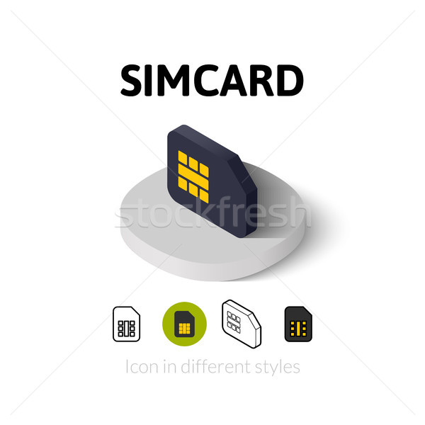 Stock photo: Simcard icon in different style