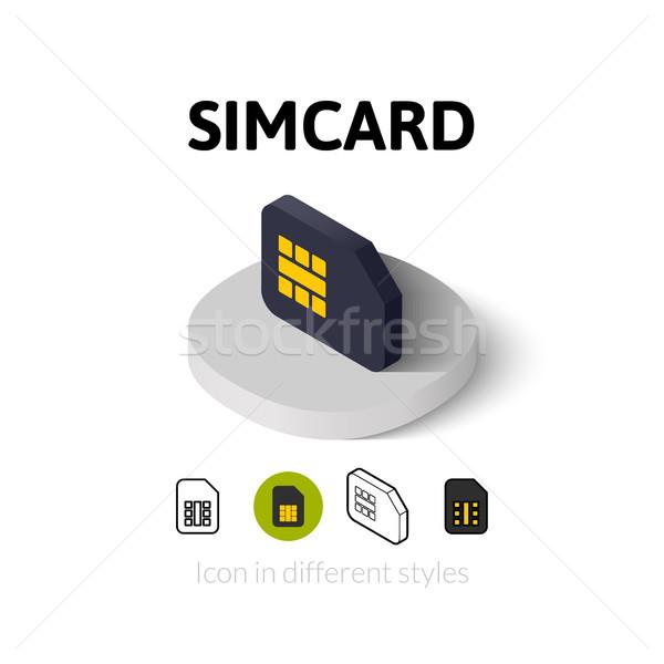 ícone diferente estilo vetor símbolo Foto stock © sidmay