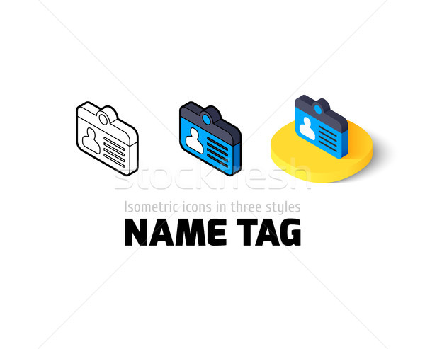 Name tag icon in different style Stock photo © sidmay