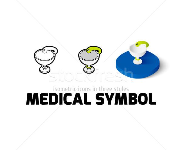 медицинской символ икона различный стиль вектора Сток-фото © sidmay