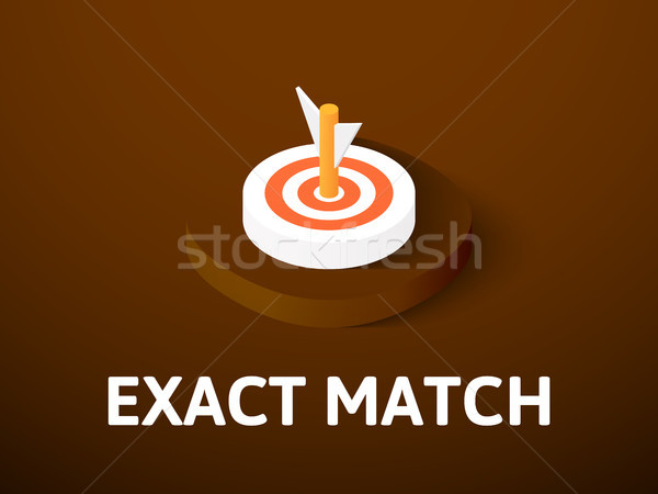 Exact match isometric icon, isolated on color background Stock photo © sidmay