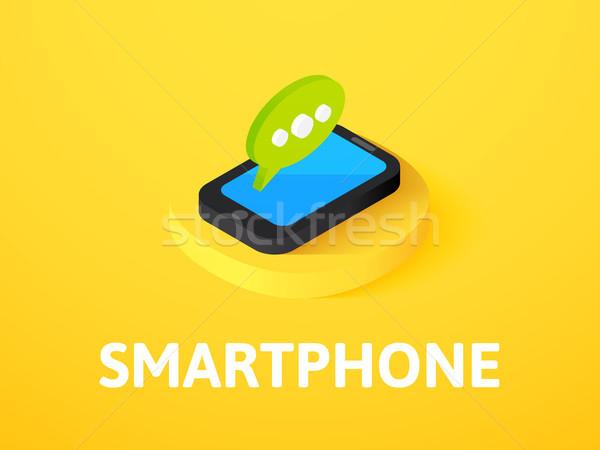 смартфон изометрический икона изолированный цвета вектора Сток-фото © sidmay