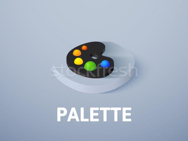 Stok fotoğraf: Paletine · izometrik · ikon · yalıtılmış · renk · vektör