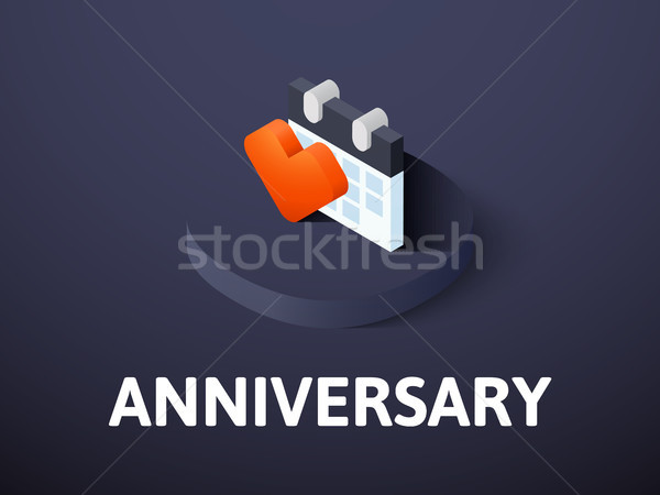 Anniversary isometric icon, isolated on color background Stock photo © sidmay